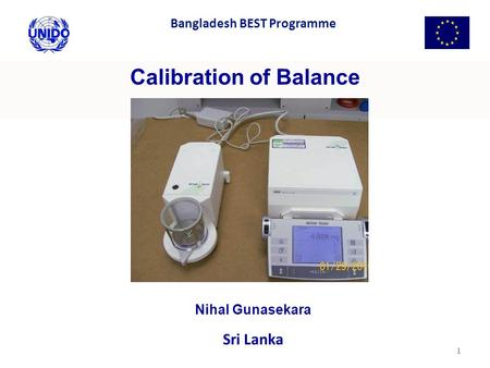Calibration of Balance