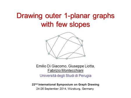 22nd International Symposium on Graph Drawing