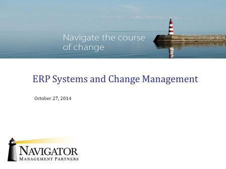 ERP Systems and Change Management