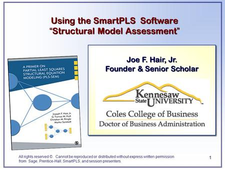 "Using the SmartPLS Software ""Structural Model Assessment"""