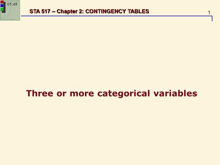Three or more categorical variables