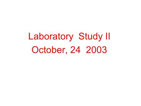 Laboratory Study II October, 24 2003. Java Programming Assignment  Write a program to calculate and output the distance traveled by a car on a tank of.