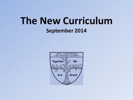 The New Curriculum September 2014. English Continued focus on quality writing Grammar objectives for all year groups Focus on reading for pleasure Read.