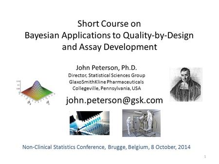 Bayesian Applications to Quality-by-Design and Assay Development