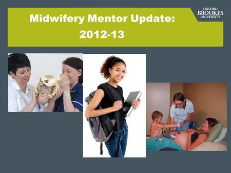 Midwifery Mentor Update: 2012-13. Overview of programmes: BSc 2013 Three year (28 students) and Post Experience (6 students) MSc 2013 Three year: Graduate.