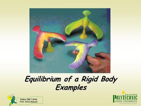 Equilibrium of a Rigid Body Examples