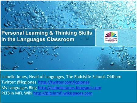 Personal Learning & Thinking Skills in the Languages Classroom