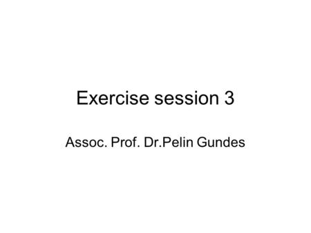 Exercise session 3 Assoc. Prof. Dr.Pelin Gundes. Numerical techniques for constrained optimization There are two outcomes that the algorithms seek to.