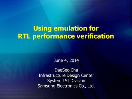 Using emulation for RTL performance verification