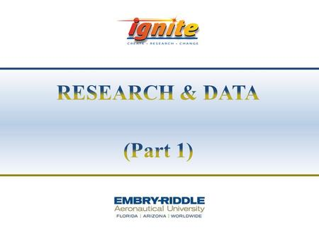 RESEARCH & DATA (Part 1).