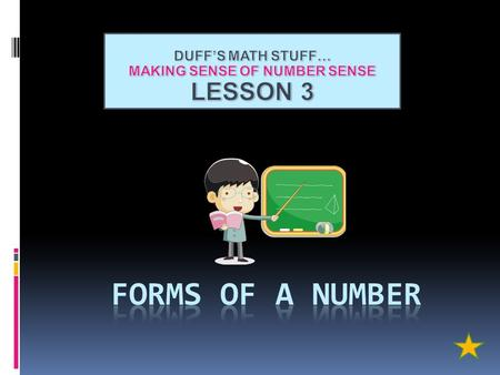MAKING SENSE OF NUMBER SENSE
