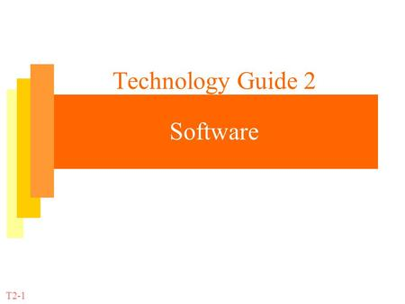Technology Guide 2 Software
