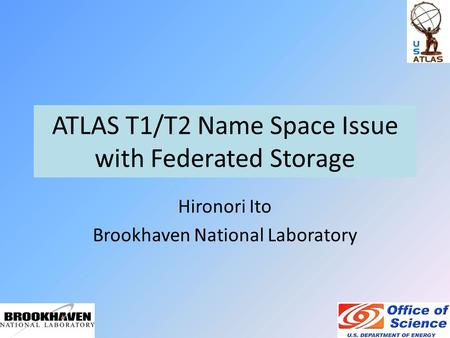 ATLAS T1/T2 Name Space Issue with Federated Storage Hironori Ito Brookhaven National Laboratory.