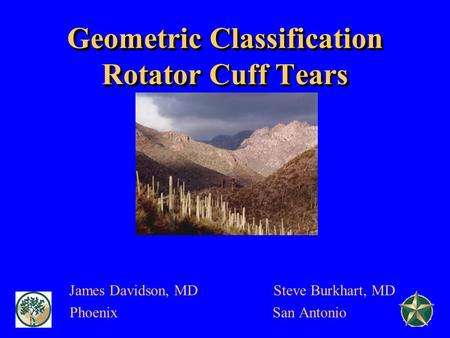 Geometric Classification Rotator Cuff Tears