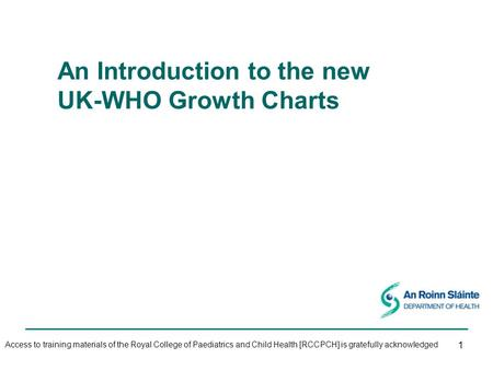 An Introduction to the new UK-WHO Growth Charts