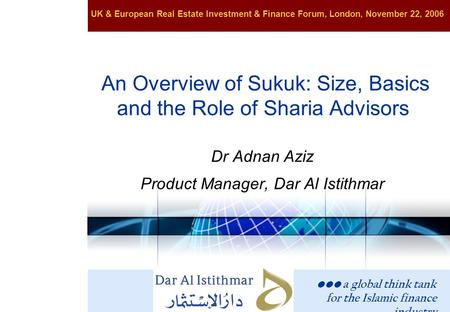 An Overview of Sukuk: Size, Basics and the Role of Sharia Advisors