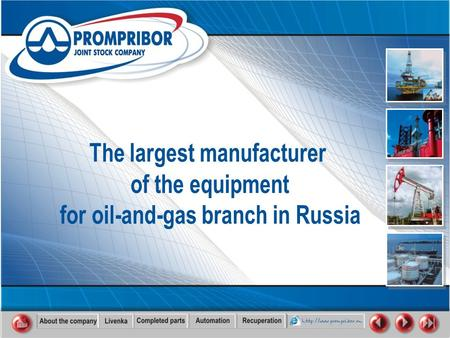 Dear Sirs! Public Joint Stock Company Prompribor is the Russian company which was found in 1961. We design and produce equipment for oil tank farms,