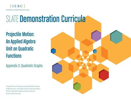 For more information on SLATE Demonstration Curricula, contact: Shelly Valdez, Ed.D IEBC Director of Educational Collaboration 2013.