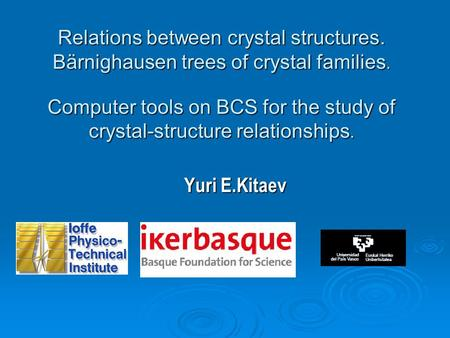 Relations between crystal structures