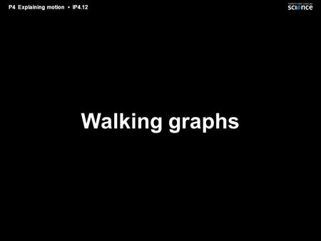 P4 Explaining motion IP4.12 Walking graphs. P4 Explaining motion IP4.12 You will be shown a series of graphs. You have to walk along a line, so that your.