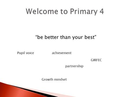 """be better than your best"" Pupil voice partnership Growth mindset GIRFEC achievement."