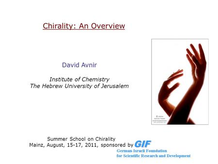 Chirality: An Overview