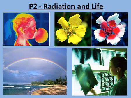 P2 - Radiation and Life. Electromagnetic (EM) Spectrum List the electromagnetic radiations in order of the energy delivered by each photon.