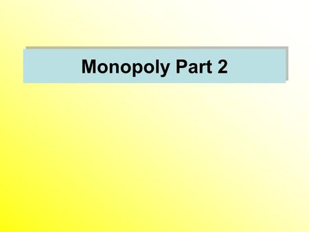 Monopoly Part 2. Pricing with Market Power Price Discrimination First Degree Price Discrimination Second Degree Price Discrimination Third Degree Price.