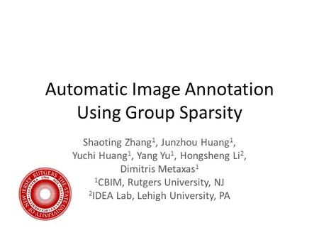 Automatic Image Annotation Using Group Sparsity