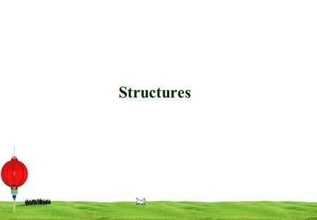 1 Structures. 2 User-Defined Types C provides facilities to define one's own types. These may be a composite of basic types ( int, double, etc) and other.