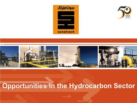 1 Opportunities in the Hydrocarbon Sector. Surface of the mining domain : 1 553 488 km2Surface of the mining domain : 1 553 488 km2 Offshore: 93 500 km2.