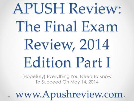 apush final exam Read and download apush final exam review rapid recall free ebooks in pdf format - economic and managenent science november test 2018 grade 9.