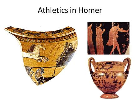Athletics in Homer. Death of Hector (Iliad XX.159-166) Thereby they ran, one fleeing, and one pursuing. In front a good man fled, but one mightier far.