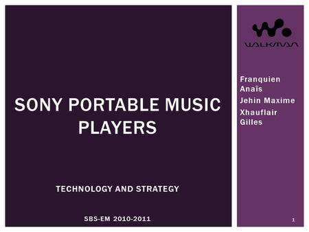 Sony portable music players Technology and strategy SBS-EM