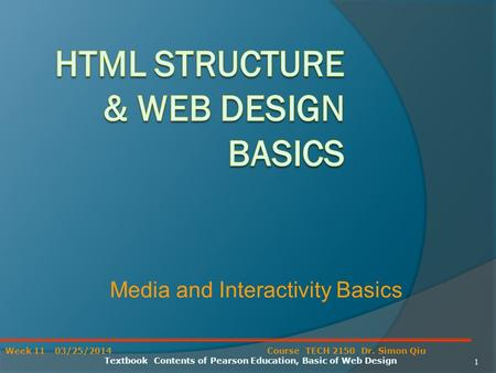HTML Structure & Web Design Basics