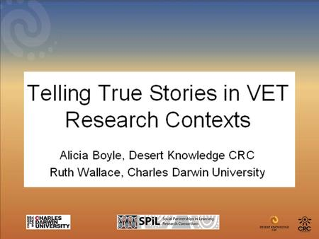 Presentation Overview Introduction VET research in Aboriginal/Indigenous contexts The place and role of emerging technologies for data collection and.