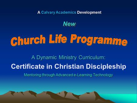 Certificate in Christian Discipleship