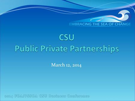 CSU Public Private Partnerships