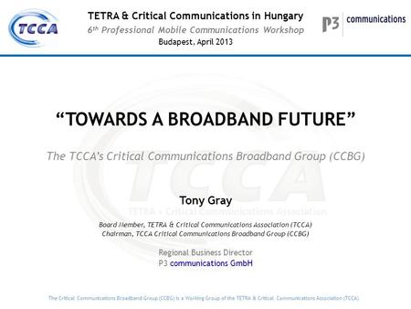 """TOWARDS A BROADBAND FUTURE"""