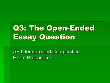 ap literature open ended essay questions