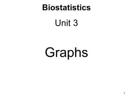 Biostatistics Unit 3 Graphs 1. Grouped data Data can be grouped into a set of non- overlapping, contiguous intervals called class intervals (Excel calls.