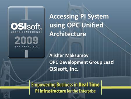Accessing PI System using OPC Unified Architecture