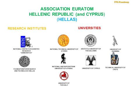 "ASSOCIATION EURATOM HELLENIC REPUBLIC (and CYPRUS) (HELLAS) FOUNDATION FOR RESEARCH AND TECHNOLOGY-HELLAS NATIONAL CENTRE FOR SCIENTIFIC RESEARCH ""DEMOKRITOS"""