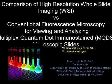 Comparison of High Resolution Whole Slide Imaging (WSI) vs
