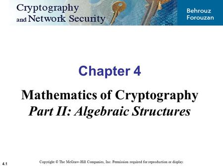 Mathematics of Cryptography Part II: Algebraic Structures