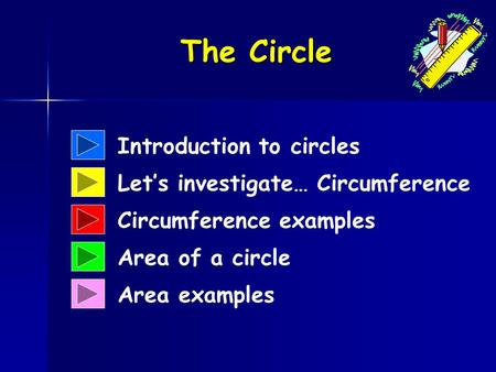The Circle Introduction to circles Let's investigate… Circumference
