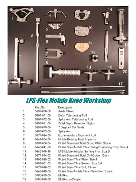 LPS-Flex Mobile Knee Workshop