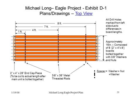 Michael Long– Eagle Project - Exhibit D-1 Plans/Drawings – Top View