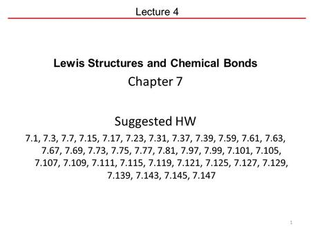 Lewis Structures and Chemical Bonds
