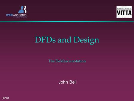 Johnb DFDs and Design John Bell The DeMarco notation.